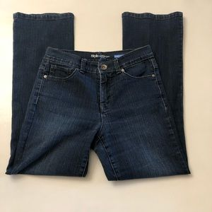 Style & co tummy control jeans 4P petite dark wash